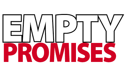 emptypromises graphic by Peter Aranyi www.thepaepae.com