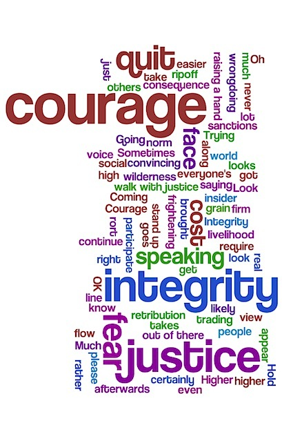 It takes courage to speak up (image: wordle.net)
