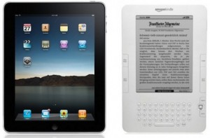 iPad vs Kindle (image: crunchgear.com)