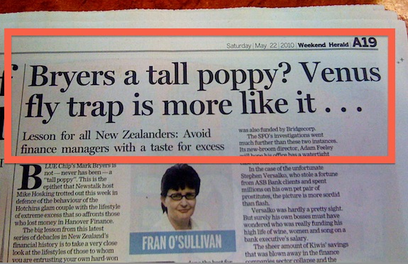 Tall Poppy? Venus-Fly-Trap is more like it!