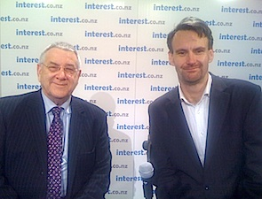 Olly Newland with interest.co.nz's Bernard Hickey see ollynewland.co.nz