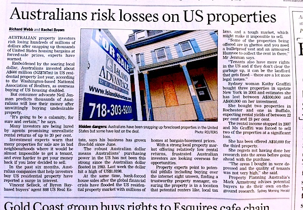 Neil Jenman warns about US property investment boom