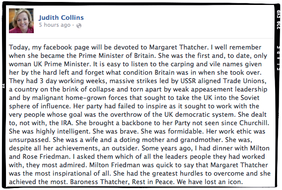 Judith_Collins-obit of Margaret Thatcher-frame