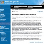beehive.govt.nz - Opposition loses the plot on economy