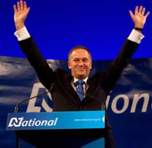 John Key in happier times. (Perhaps the happiest.)