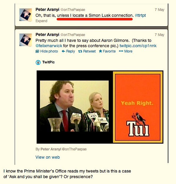 I know the Prime Minister's Office reads my tweets but is thi... on Twitpic
