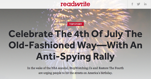 Anti-spying rally