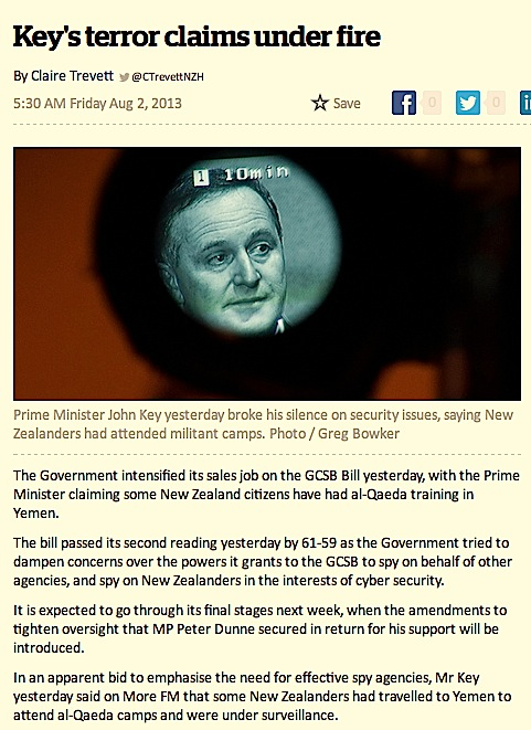 Key_s terror claims under fire - National - NZ Herald News