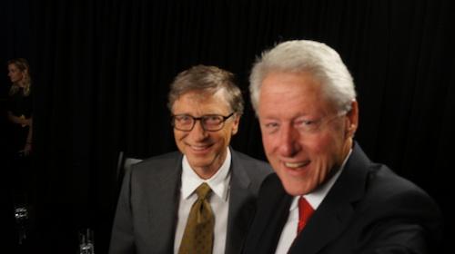Gates-Clinton-selfie