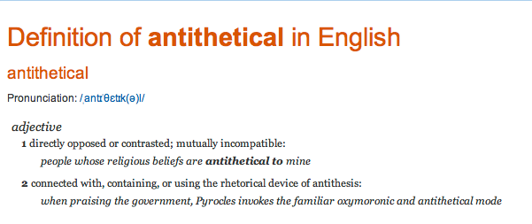 antithetical_ definition of antithetical in Oxford dictionary (British & World English)-1