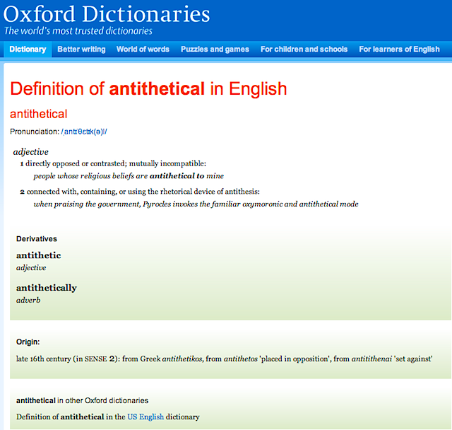 antithetical_ definition of antithetical in Oxford dictionary (British & World English)