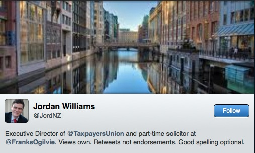 Disarming potted bio from Jordan 'I am not a lobbyist, oh hang on, yes I am this week' Williams.