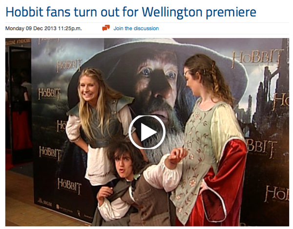 3 News Hobbit fans turn out for Wellington premiere - Story - Entertainment - 3 News