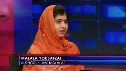 """Then I said, 'If he comes, what would do, Malala?' ""click to watch this interview at The Daily Show"