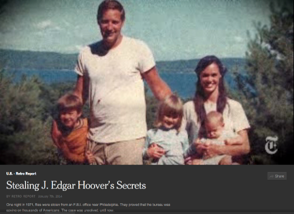 click to view 'Stealing J. Edgar Hoover's Secrets' at NYTimes.com