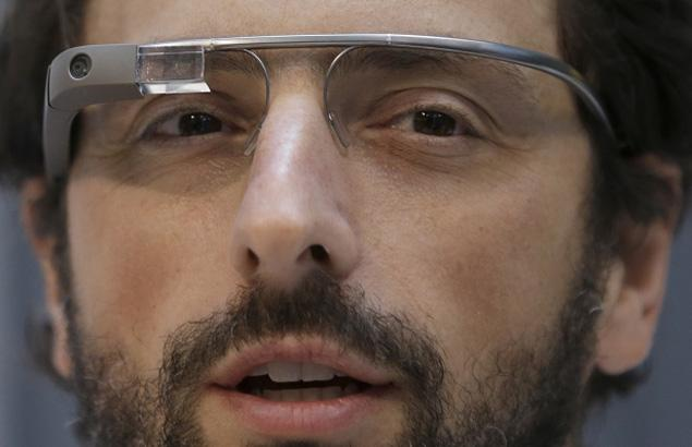 Google co-founder Sergey Brin wears Google Glass (pic: NY Daily News - click)