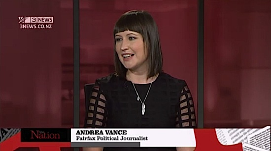 Andrea Vance on TV3's The Nation panel discussion - click to view video
