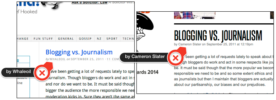 Whaleoil's collective byline changes to a claim of authorship