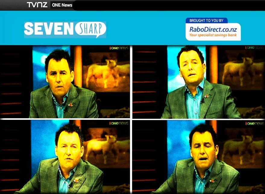 NOTE THE BRANDING: Mike Hosking's nasty, protracted vilification of a victim brought to you by TVNZ One News, Seven Sharp and RaboDirect. Remember those names.