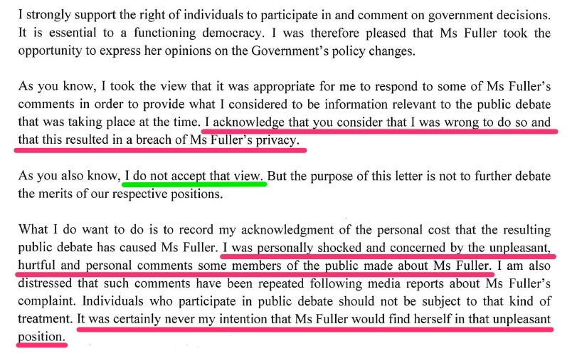 Effectively: Your stinkin' rules don't apply to me. Paula Bennett set an appalling example as a legislator and role model. (click to enlarge)