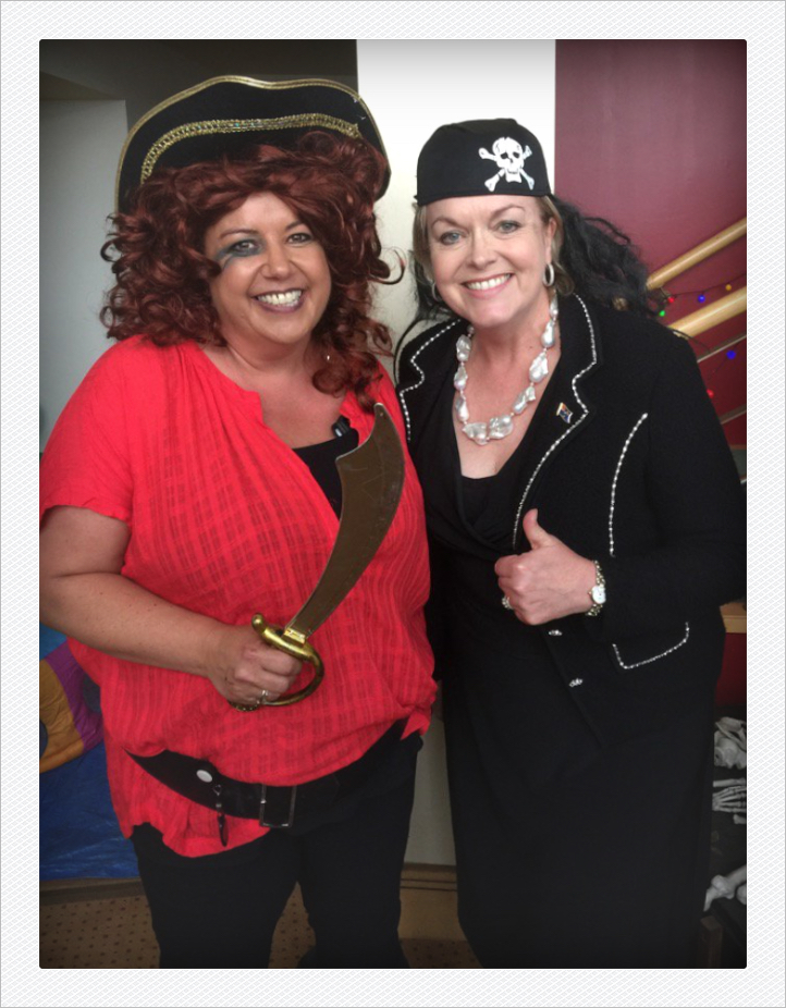 Pirates (and cabinet ministers) Paula Bennett (left) and Judith Collins (right).